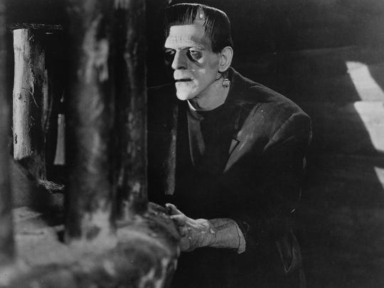 "Boris Karloff appears in a scene from the 1931 classic ""Frankenstein."""