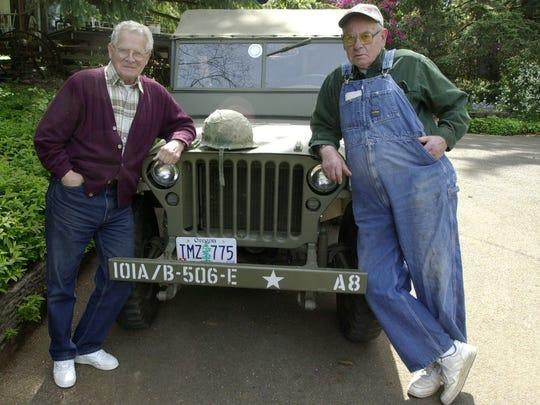Don Malarkey (left) and Bill Wingett, pictured in 2001,
