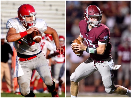 Brentwood Academy's Gavin Schoenwald (left) and Montgomery