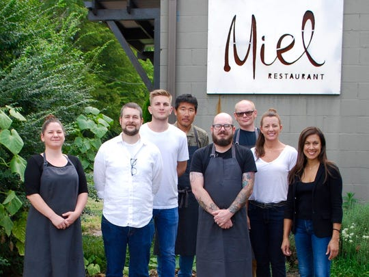 The Miel team, from left: pastry chef Jennifer Coins,