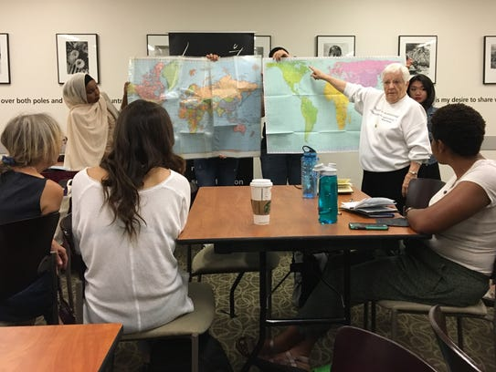 Jane Elliott explains how distortions on a map can