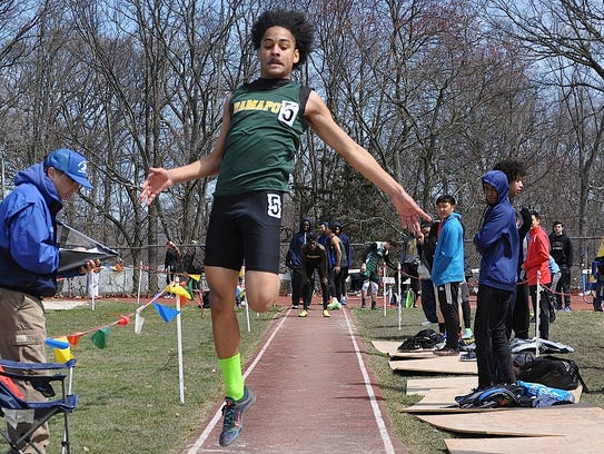 Ramapo's Nathaniel Gaines takes flight in the long