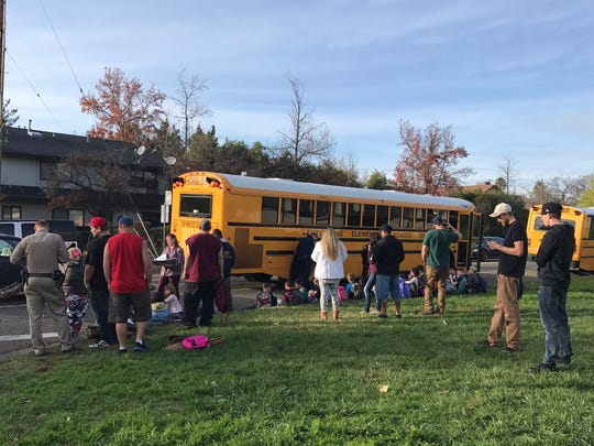 The CHP says about 30 kids were on board the bus that was hit by a car. The driver of the Saturn apologized and asked one of the kids whether he was OK.