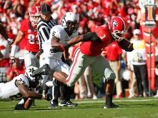 Vanderbilt Georgia Football