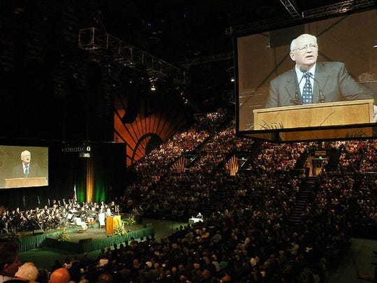 Former leader of the Soviet Union Mikhail Gorbachev spoke at CSU in 2005.