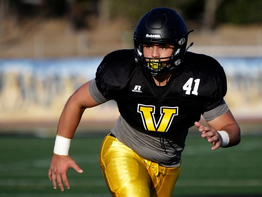 Ventura High linebacker Connor McDermott was named