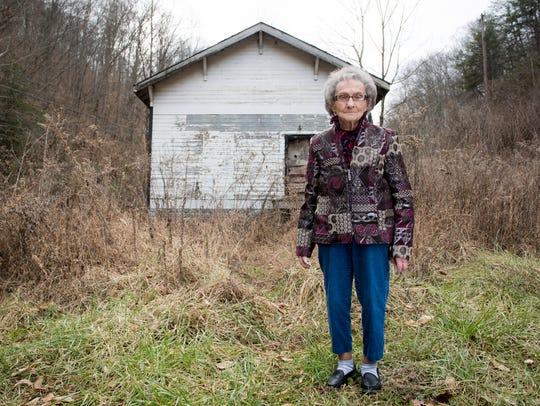 Bonnie Jean Carroll poses for a portrait outside Barwick