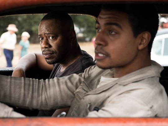 "Rufus (Malcolm Barrett, left) goes for a ride with racing legend Wendell Scott (Joseph Lee Anderson) in ""Timeless."""