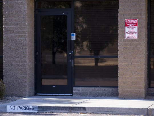A vacant office building that housed immigrant children