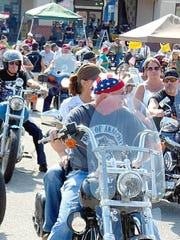 Riders in the We Can Make A Difference Ride prepare to hit the road. Thomas Garrett/The Baxter Bulletin