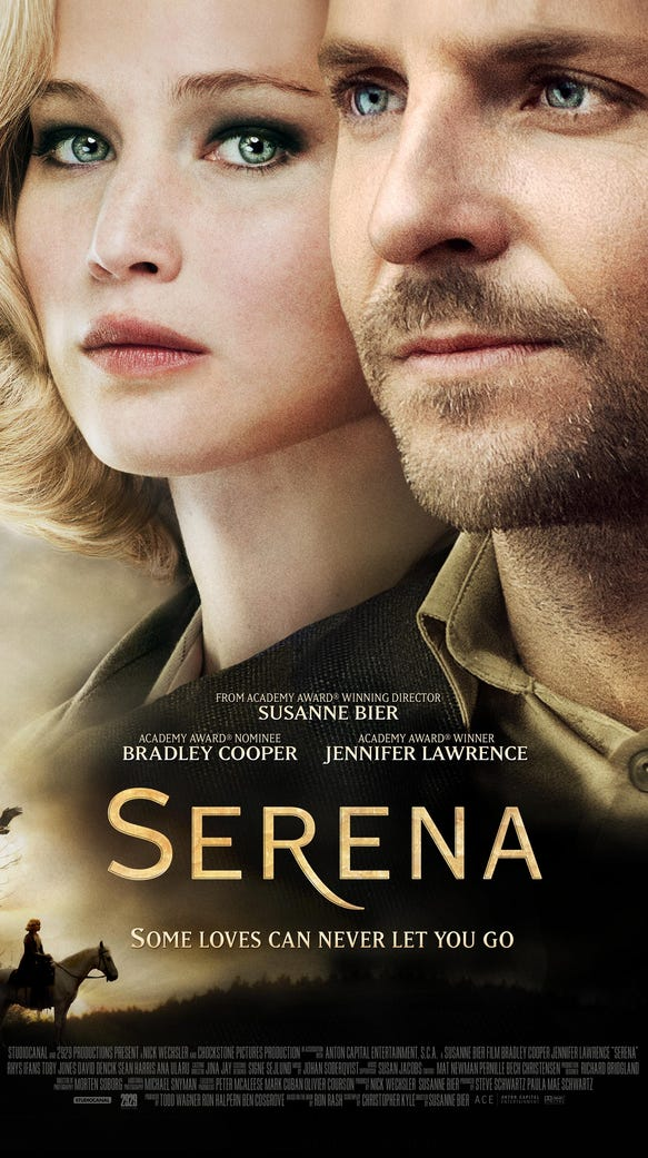 "The ""Serena"" movie poster."