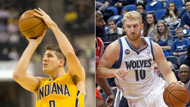 The Indiana Pacers agreed to trade Damjan Rudez to the Minnesota Timberwolves for Chase Budinger on July 11, 2015.