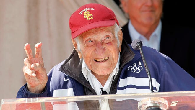 Louis Zamperini was an Olympic distance runner and World War II veteran.