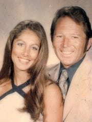 Charlene and Lyman Smith pose for a photo at his class reunion at San Juan High School in Citrus Heights. The married couple was found dead in their Ventura home in March 1980.