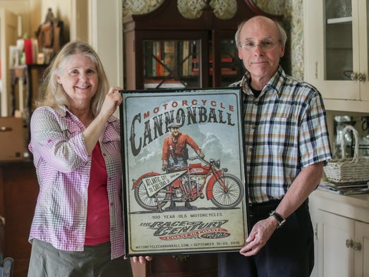 Home owner Vickie Goens, left, and her boyfriend Stan