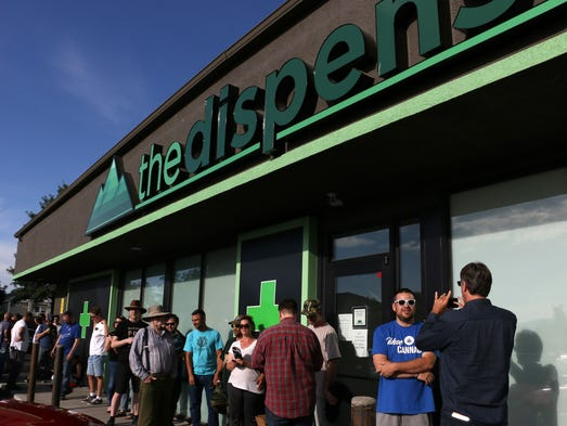 Opening day of legal recreational marijuana sales in