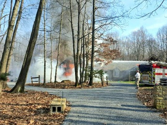 Crews are responding to the scene of a house fire on
