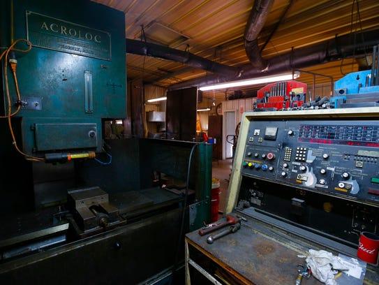 Hardesty's favorite machine in his shop a 1960s-era