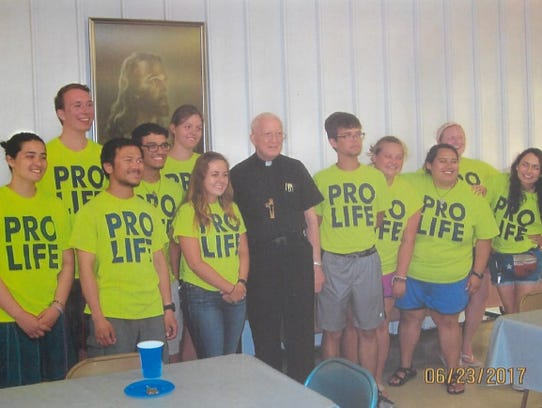 Members of the Crossroads Pro-Life Walks Across America