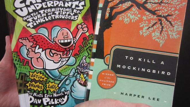 "The Captain Underpants series for children and ""To Kill a Mockingbird"" are among the classic titles that some parents and library patrons say should be banned."
