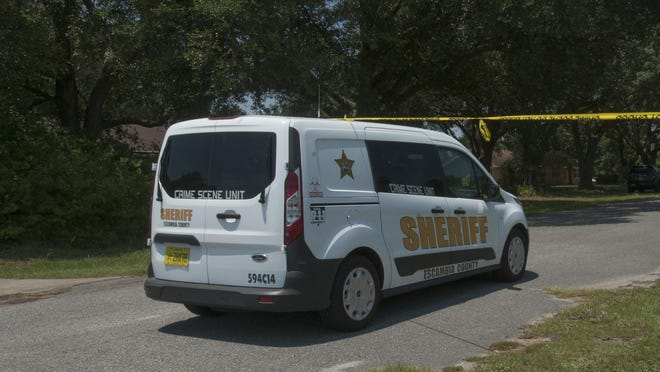 The Escambia County Sheriff's Office is continuing its investigation into the deaths of three people in the Pine Forest area Monday morning Aug. 3, 2015. The bodies of three individuals were discovered inside a home on the 4600 block of Deerfield Drive during welfare check at the home on Friday.