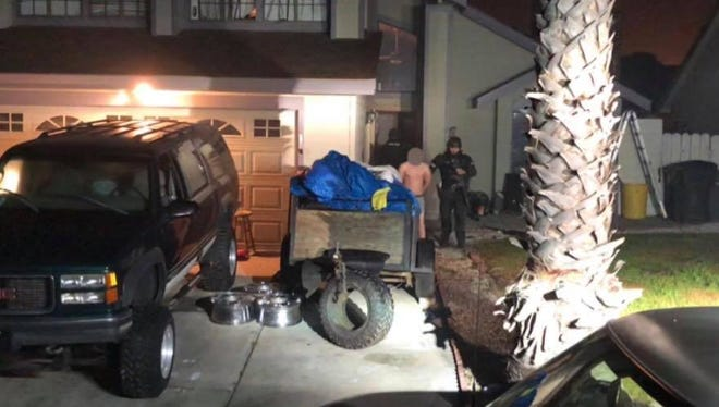 Salinas police arrested seven people in six raids in Salinas and the south county early Thursday morning, officers say.