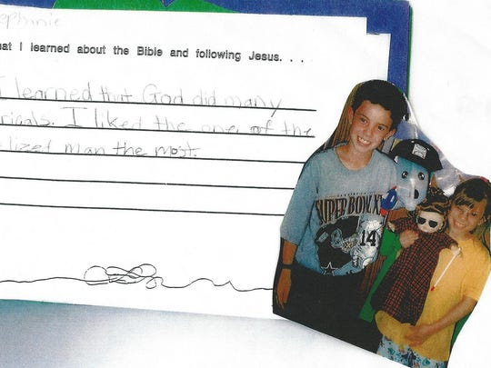 A snippet from Stephanie Perry's scrapbook from her