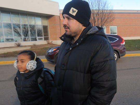 Jose Conde talks about why he chose to open enroll his 10-year-old daughter, Lailene, at Harvey Dunn Elementary School.