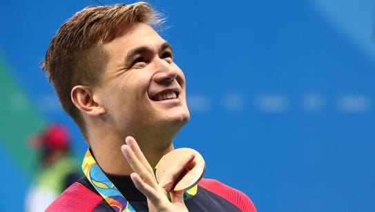 Nathan Adrian won two bronze at the Rio Olympics last