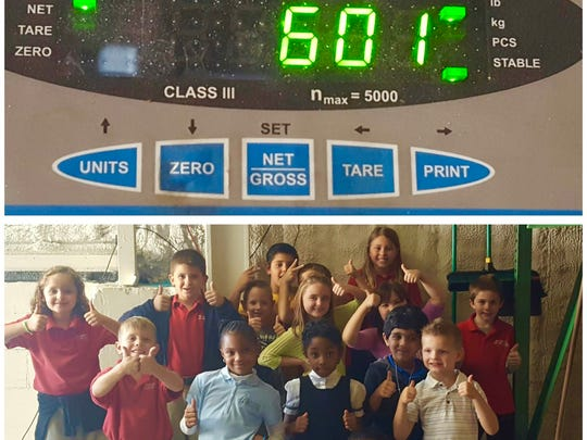 Chesterbrook Academy students set a preschool record by collecting 601 pounds of food for Treasure Coast Food Bank.