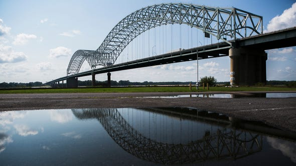August 12 - A reflection of the Hernando De Soto Bridge
