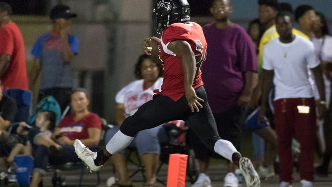 Pine Forest vs West Florida high school football game in Pensacola, FL on Friday, August 19, 2016.
