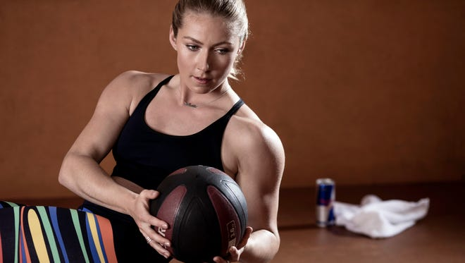 During her training season, slalom sensation Mikaela Shiffrin does 90-minute workouts twice a day, five times a week, to keep in top shape.