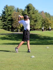 Andrew Thompson tees off for Horseheads on Oct. 3