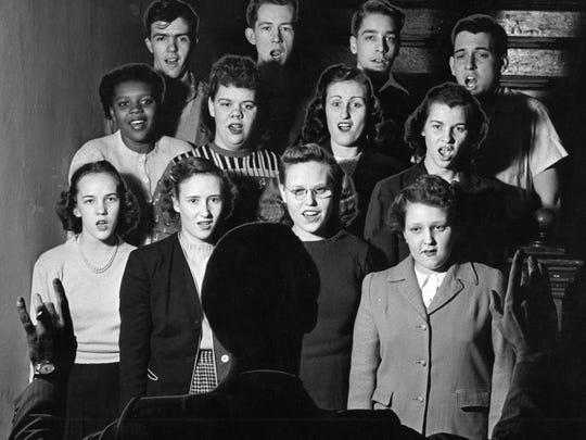 Undated teen Canteen choir rehearsal.