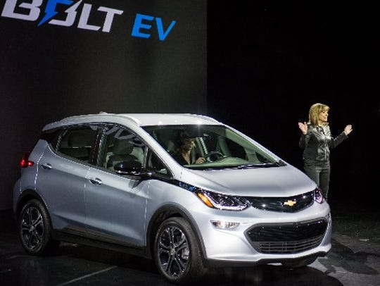 General Motors CEO Mary Barra introduces the Chevrolet