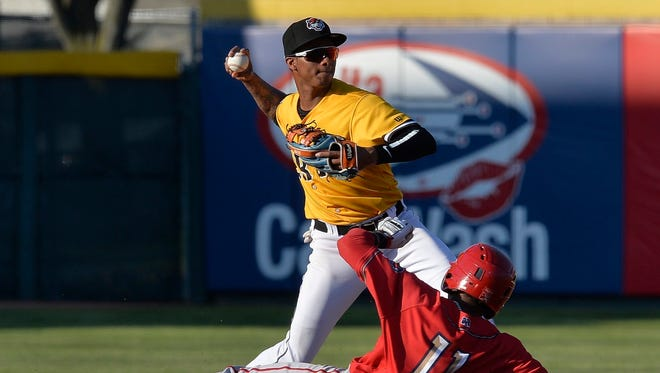 Sergio Alcantara, top, is the best defensive shortstop prospect the Tigers have in their farm system.