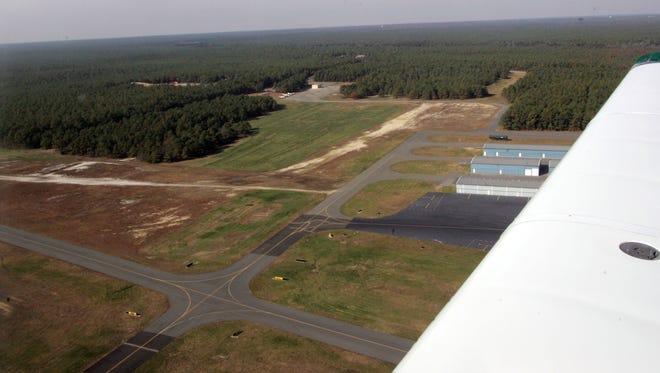 Arial file photo of Robert J. Miller Air Park, at the Ocean County Airport.