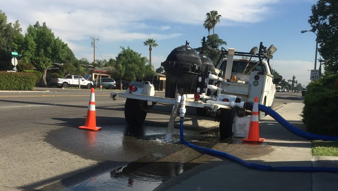Cal Water completes maintenance project in Visalia.