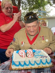 World War II Veteran Joe Celli celebrates his 92nd