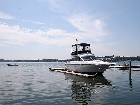 Sodus Bay has a no wake policy for boaters in effect and many of the docks have just been become accessible since lake waters have receded.