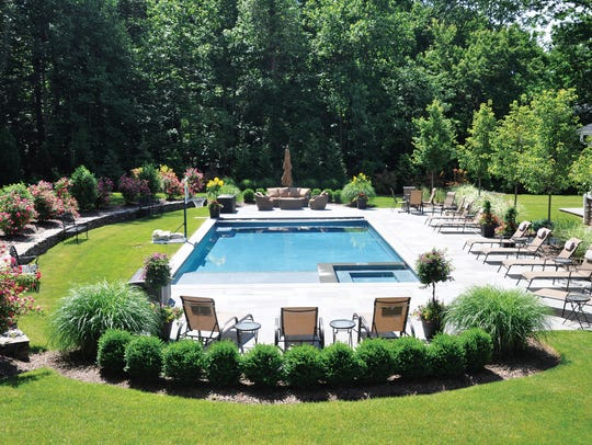 Allendale backyard designed by Borst Landscape & Design,