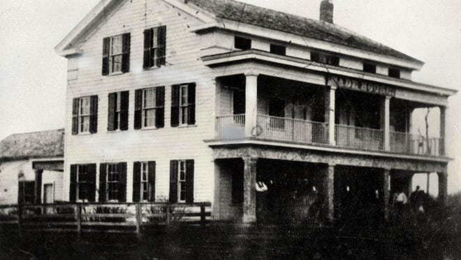 The earliest image of the Wade House in Greenbush, circa 1855.