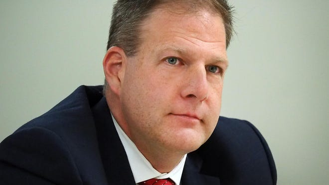 Govs. Chris Sununu of New Hampshire, seen here, Charlie Baker of Massachusetts, Phil Scott of Vermont, and Larry Hogan of Maryland declined to join 24 other Republican governors in signing a letter urging the Senate to confirm Judge Amy Coney Barrett to the U.S. Supreme Court.