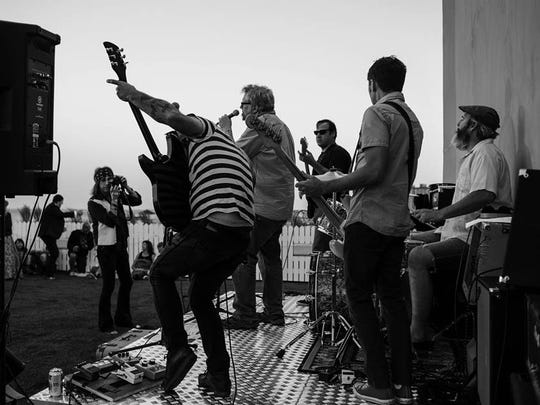 The Ribeye Brothers live on the roof of the Asbury Hotel.