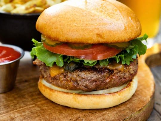 The Big Ass Burger at Roaring Fork.