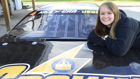 Local race car driver Ali Kern moves up from the ARCA/RCA