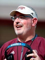 Mississippi State coach Joe Moorhead.