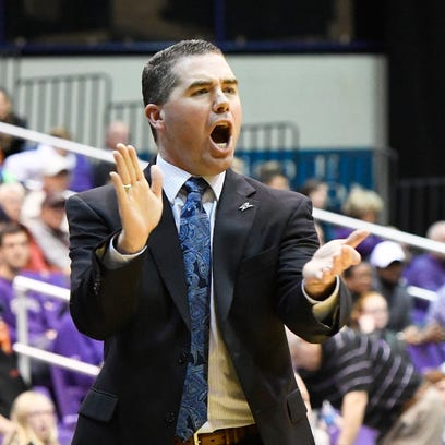 UNC Asheville Head Coach Nick McDevitt.