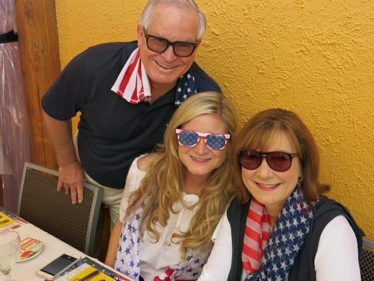 Dr. Larry Allen, Meredith Allen, Lori Allen at Pepi's,